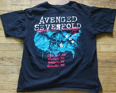 Avenged Sevenfold Nightmare Accross America 201 Concert Tour T-Shirt Large