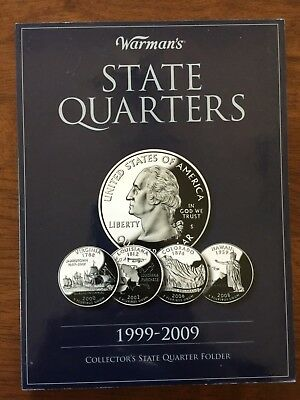 US States and Territories Quarter Set Complete in a Warman's folder