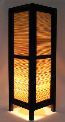 Asian Home Decor Wood Table Lamps Japanese Lanterns -*bamboo Wood Blind*