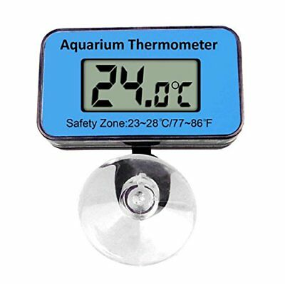 Doutop Aquarium Thermometer Submersible Fish Tank Thermometer Waterproof Blue