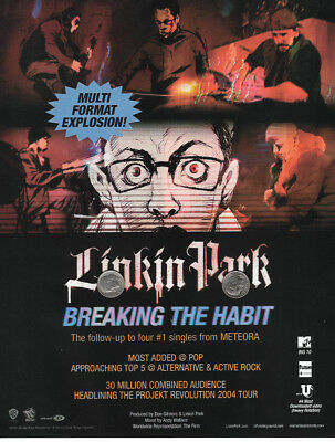 Linkin Park Promo Ad Magazine Full Page Clipping Thick Rare Breaking The Habit