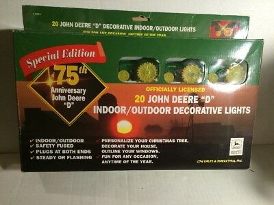John Deere Model D tractor decorative indoor/outdoor lights 20-pc Set 75th Sp Ed