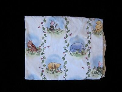 Disney Classic Pooh and Friends Fitted Crib Sheet Blue White Characters