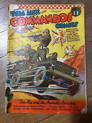Tom Mix Commandos #11 1942- Tommy Guns Fred Meagher Golden Age Comic Book