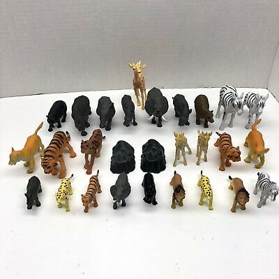 26-Assorted Plastic Wild Animal Figurines Toys Fast Ship