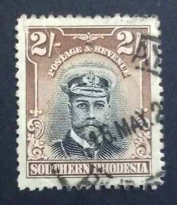 Southern Rhodesia 1924 2/-  two 2 shillings 2s brown black  SG 12 SG12 , captain