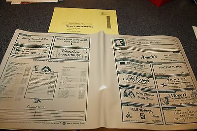 1976 Dearborn Heights MI Telephone Book Directory Cover Ads Card Tel-A-Cover NOS