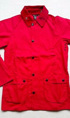 Barbour Mens Washed Bedale Jacket, Red, Small, Large  MSRP $299