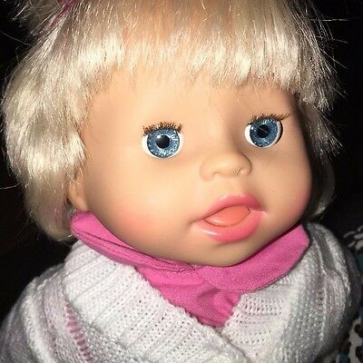 "MATTEL Little Mommy Doll ""Make Me Feel Better"" 13"" Tall Blond Hair Interactive"