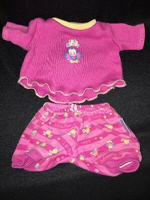 "FISHER-PRICE Little Mommy Doll CLOTHES Bloomers Top BLUE BIRDS BEES Fit 12""-14"""