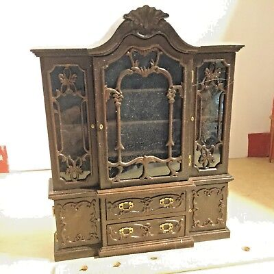 Gobel Butterfly collection china cabinet,VGC,some sticky wax residue