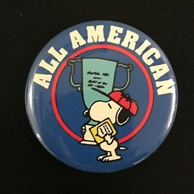 """SNOOPY Peanuts Pinback Button 1971 Charlie Brown Pin 2.5"""" VINTAGE"""