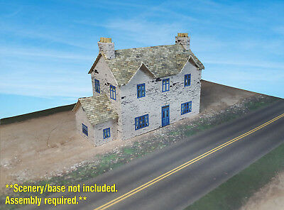N Scale Building - English Cottage / House (Cover Stock PRE-CUT Paper Kit)