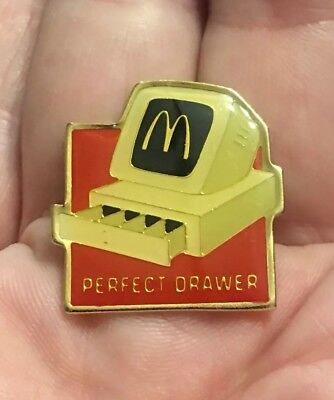 Vintage Mcdonalds Crew Lapel Pin. Perfect Drawer. Group II Inc.