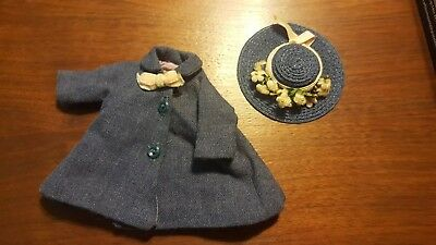 Rare Vintage Madame Alexander Kins Blue Hat with Flowers Coat Outfit WOW