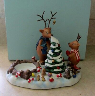 PARTYLITE Christmas Reindeer Votive Candle Holder Tree Snuffer #P8536 Decoration