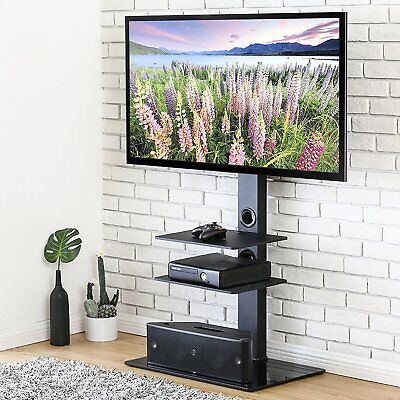 Tavr Tv Stand With Mount 3 Tiers Glass Shelves For Samsung 32 65