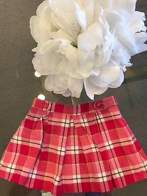JANIE AND JACK Girls Pink Autumn Plaid Skirt Size 18-24 Months NO RESERVE!!