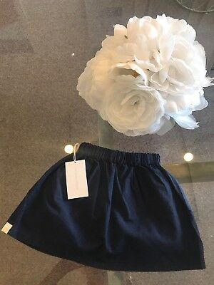Go Gently Baby Girls Navy Skirt 100% Organic Cotton size 18-24 mos Orig.$55