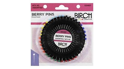 Berry Pins ~ Birch ~ 40 Pins