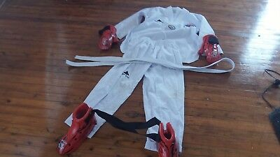 Tae Kwon Do kids uniform, K.T.A.M.A. approved, size 160 #2 plus gloves and boots