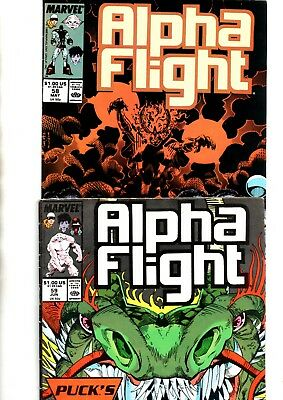Alpha Flight Vol 1 #58 May & #59 Jun 1988 Condition Very Fine