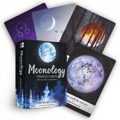 Moonology Oracle Cards: A 44-Card Deck and Guidebook by Yasmin Boland.