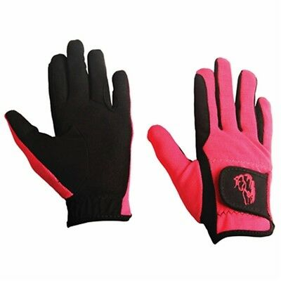 (Small, Raspberry) - TuffRider Children's Performance Gloves. Delivery is Free
