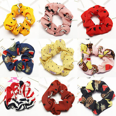 Candy Color Hair Scrunchies Bun Ring Elastic Fashion Scrunchie Ponytail Holder