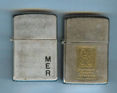 Lot of two old vintage ZIPPO lighters