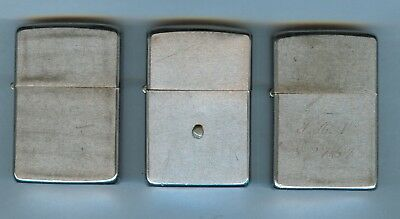 Lot of three old vintage ZIPPO lighters
