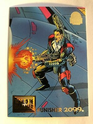 1994 Marvel Comics Universe Card #87 Punisher 2099