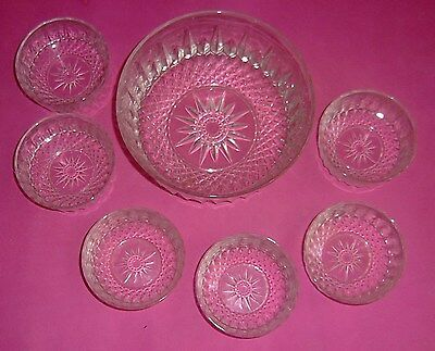 Pretty design, Serving Bowl with 6 individual bowls