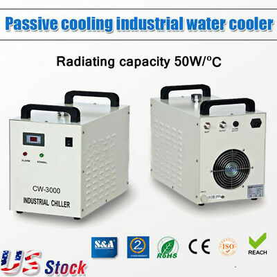 US S&A 110V 60Hz CW-3000DG Industrial Water Chiller for 60W / 80W CO2 Laser Tube