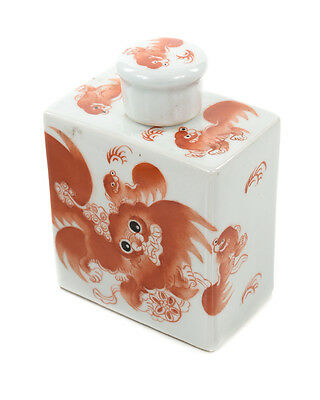 Chinese Antique Painted calligraphy Porcelain Square Bottle