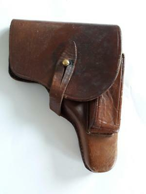 WWII Rare German Germany Military Army Leather  Browning Gun Pistol Holster WW2