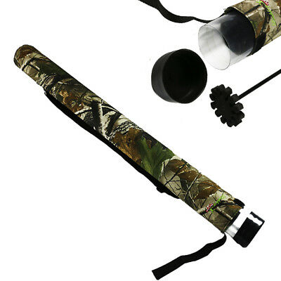 33'' Archery Camo Arrows Quiver for Compound Recurve Bow Hunting Shooting