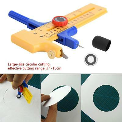 Compass Circle Cutter Rotary Cutter Tool For Paper Vinyl Rubber Leather 10~150mm