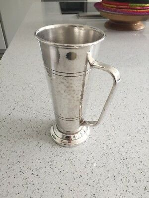 South African Breweries Commemorative Tankard . Vintage silver plated 1970