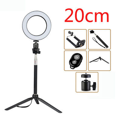 20CM LED Ring Light Dimmable & Light Stand Dimmable Lighting Kit Youtube Live