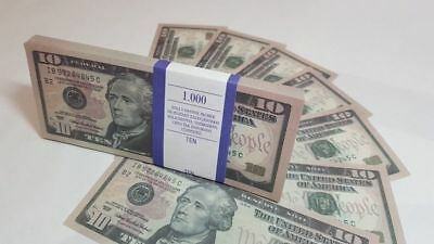 $10 DOLLARS SOUVENIR BILLS 1 pack for Prank, Games, Movies&Videos and Gift