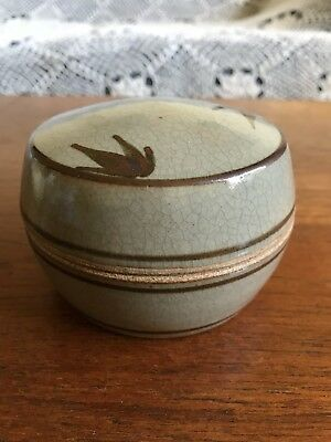 Vintage Richard Brooks Pottery Small Lidded Dish Australian Studio Pottery