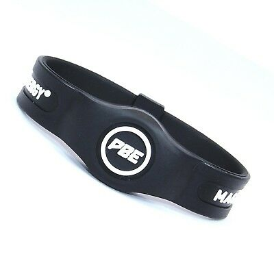 (Black/White, Large - 20.5cm) - *NEW* Power Balance ENERGY® Magnetic Therapy