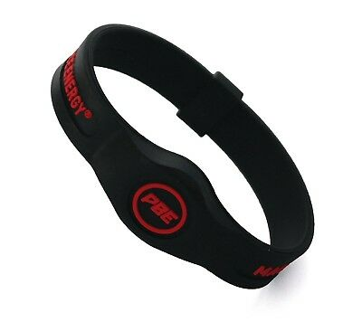 (Black / Red, Small - 17.5cm) - *NEW* Power Balance ENERGY® Magnetic Therapy