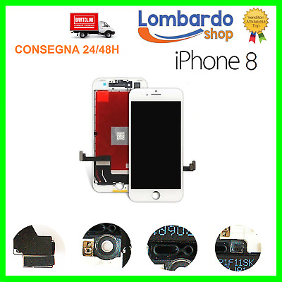 Display Schermo Iphone 8 Bianco Per Apple Touch Screen Lcd Retina Frame Vetro 8G