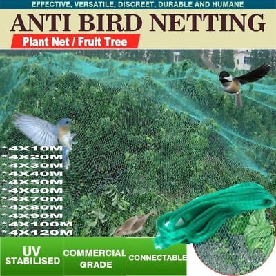 4x10M-120M Commercial Fruit Tree Plant Knitted Anti Bird Netting Pest Net Mesh