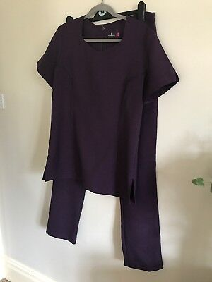 Hair/Beauty Tunic & Trousers Size 14 In Aubergine 🍆