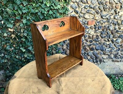 Original Edwardian Arts & Crafts Oak Shelves - Wall Mount, or Free Standing.