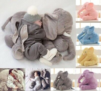 Baby Sleeping Pillow Long Nose Elephant Soft Plush Stuffed Toy Baby Cuddly Dolls