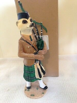 Country Artists Tam Magnificent Meerkat Ornament Boxed Scottish Piper Figurine